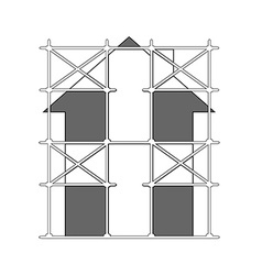 Image of scaffolding vector