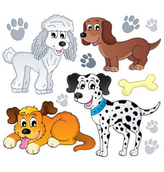 image with dog topic 3 vector image