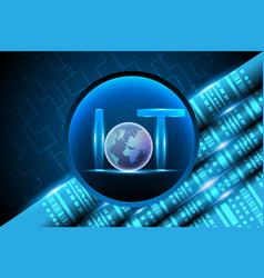 Internet of things iotlight letter text symbol vector