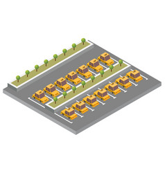 isometric taxi parking vector image