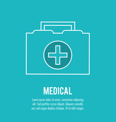 kit first aid urgency medical health care vector image