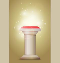 light bronze column pedestal vector image