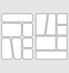Manga storyboard layout template for comic book vector