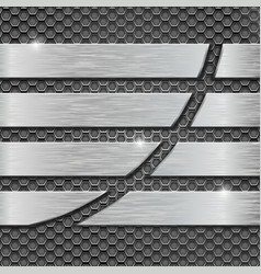 metal perforated background with metal plates vector image