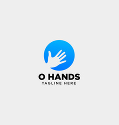 Minimal o letter initial hand logo template icon vector
