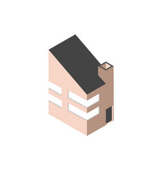 modern block building isometric style vector image