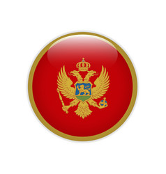 montenegro flag on button vector image