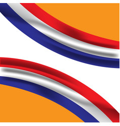 Netherlands flag template design vector