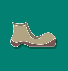 Paper sticker fashion footwear shoe vector