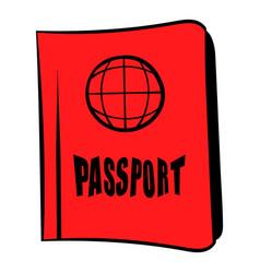 Passport icon cartoon vector