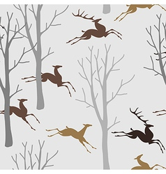 pattern deer forest vector image