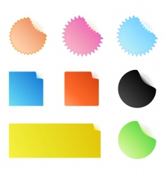 peeling stickers vector image