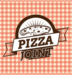 Pizza joint brown logo vector