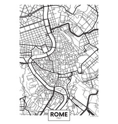 Poster map city rome vector