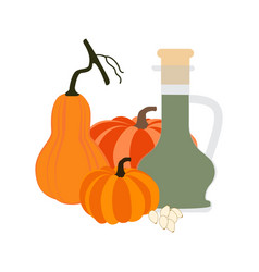 pumpkin seeds oil vector image