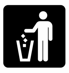 Put litter icon vector