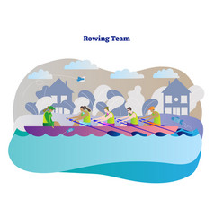 rowing sports team vector image