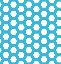 Seamless blue hexagon pattern vector