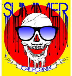 skull wearing sunglasses vector image