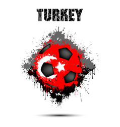 Soccer ball in the color of turkey vector