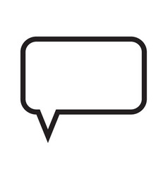 speech bubble message box vector image