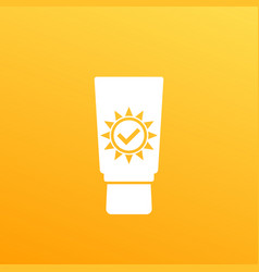 sunblock sun screen icon vector image