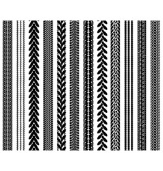 tire prints seamless pattern vector image
