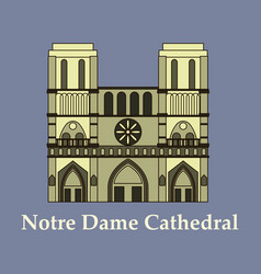 travel banner or logo the famous cathedral of vector image