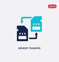 Two color memory transfer icon from artificial vector
