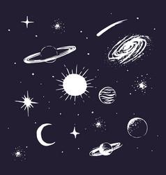 Universe elements vector