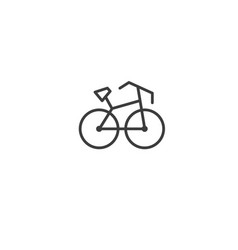 urban and city element icon - bicycle in trendy vector image