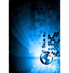 Vector abstract blue background vector