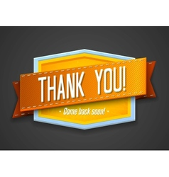 Vintage thank you label vector