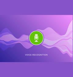 Voice recognition wave sound ai icon music vector