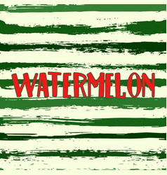 watermelon stripes seamless background vector image