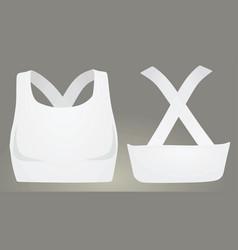 White sport bra vector