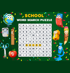 word search puzzle worksheet kids quiz game vector image