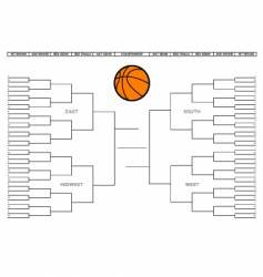 college basketball tournament bracket vector image vector image