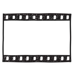 film strip background empty film frame sketch vector image