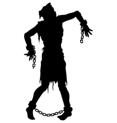 Inquisition executed zombie silhouette vector image vector image