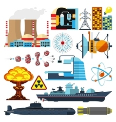 Nuclear power set vector image