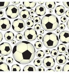 soccer and football balls seamless pattern eps10 vector image