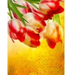 Card with abstract flowers EPS 10 vector image