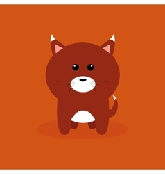 Cute Cartoon fox vector image
