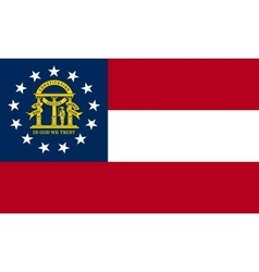 Flag of Georgia state correct size colors vector image vector image