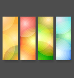 four abstract vertical colorful banners vector image