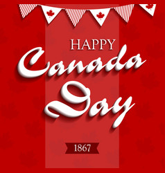 happy canada day4 vector image