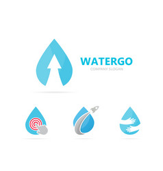 Oil and arrow up logo combination drop vector