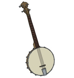 old four strings banjo vector image vector image