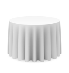 Round tablecloth vector image vector image